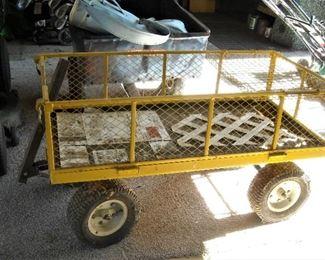 Oversize lawn cart