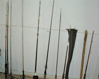 Old spinning and fly rods
