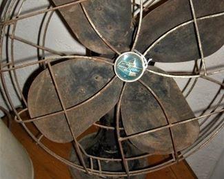 Golden oldie... marvelous old oscillating fan