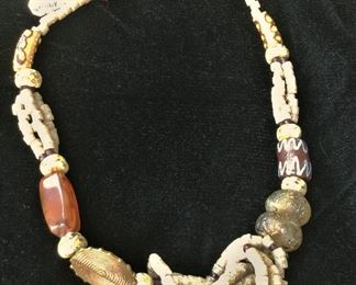 African Trade bead necklace $45