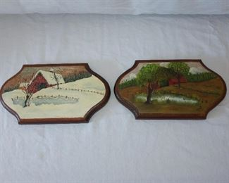 Vintage Hand Painted Wall Art