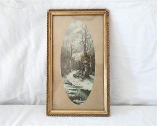 Framed Art- Winter Scene