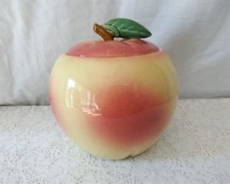Ceramic Peach Cookie Jar