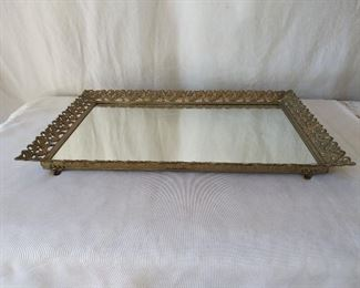 Brass Vanity Mirror Tray