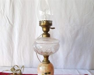 Porcelain Lamp with Chimney