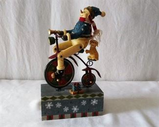 Music Box- Snowman on Bike