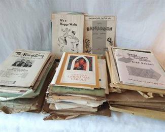 Vintage Sheet Music Lot (Lot 711)