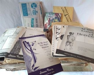 Vintage Sheet Music Lot (Lot 712)