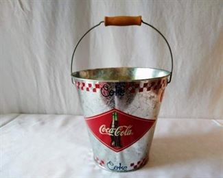 Coca- Cola Metal Bucket w/ Handle
