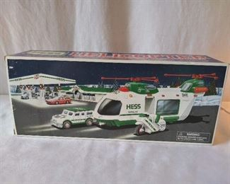 Hess Helicopter w/ Motorcycle & Cruiser Toy