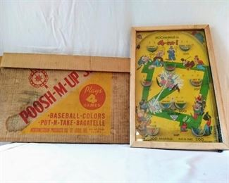 Vintage Poosh-M-Up Pinball Game