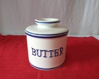 Vintage Two Piece Butter Bell Crock
