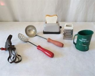 Vintage Child's Kitchen Utensils Lot