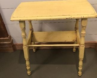 $42 / Adorable, vintage book shelf in cheerful distressed yellow paint.