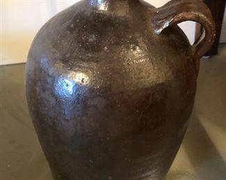 $24 / Vintage brown pottery jug