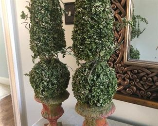 $48 / Pair of tall topiaries perfect for on mantle or buffet