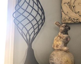 $36 / Heavy, iron swirl finial. Bunny sold.