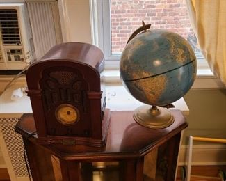 Antique Radio and Globe