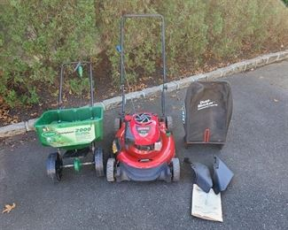 Lawn Mower and Fertilizer Spreader