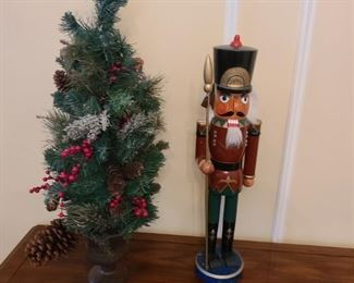Nutcracker and Christmas Decoration