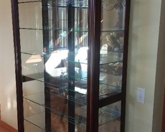 Beautiful lighted display cabinet