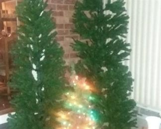Small prelit , medium 7'and large 9' narrow Christmas trees
