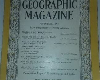 1942 National Geographic magazine