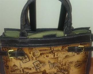 Leather Firenze Bella carry on bag