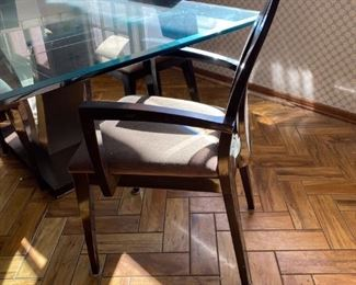 Pietro Constantini Designed Table & 4 chairs.   2 side chairs and 2 arm chairs.  Excellent clean condition.   Retail Value $6,000.00 - sacrafice $600. !!!