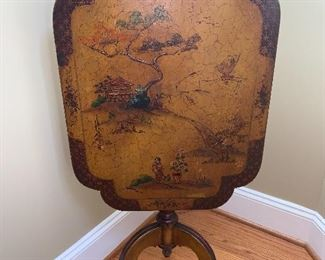 Asian themed Painted Tilt Top Table