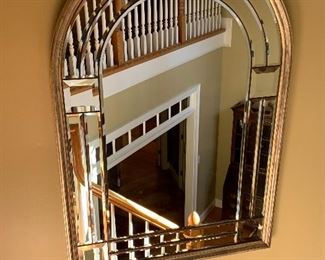 Arched Beveled Wall Mirror