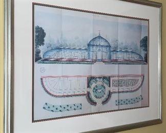 Ville de Tarbes Framed Print