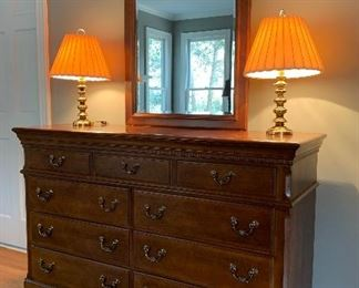 Dresser with Attached Beveled Mirror, Sumter Furniture Co.