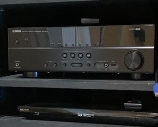 Yamaha Receiver Sony Blue Ray Disc DVD Player