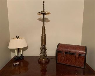 Thos. Culpepper Brass Microscope Table Lamp