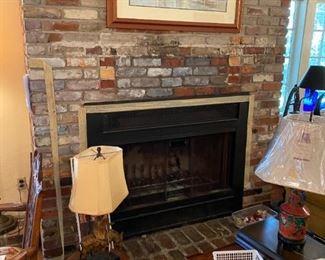 Florida Art, Asian lamps, Blue asian rug,