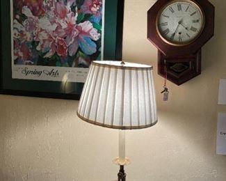 Old wall clock, FLoor lamp, local art