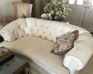 Two  Beautiful white sofas