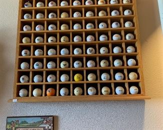 Golf ball collection and holder