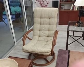 Leather Rattan Chair