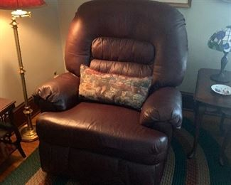 Oversized leather recliner $500