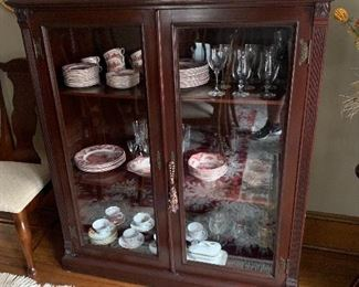 Exceptional bookcase with glass doors $1200