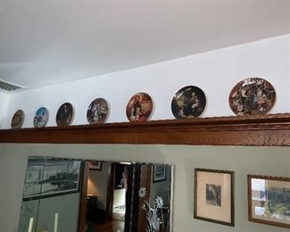 Norman Rockwell plate collection
