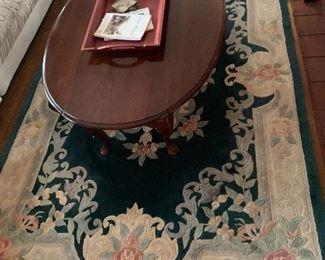 Oriental rug - green $175