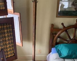 Cool old funky hook coat rack $75