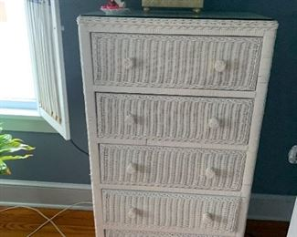 Wicker set $500 2 dressers desk and headboard