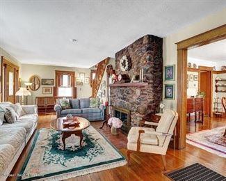 Green oriental rug $175