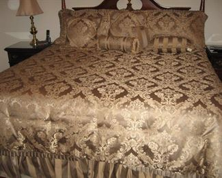 King Bassett Headboard... Beautiful Waterford King Comforter Set...