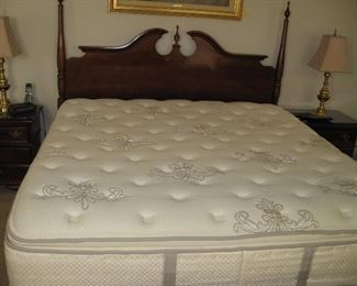 King Bassett Headboard...  (SOLD King Stearns & Foster Mattress/Box Springs Set)