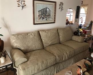 Presale item - lovely neutral sofa in great condition - $375